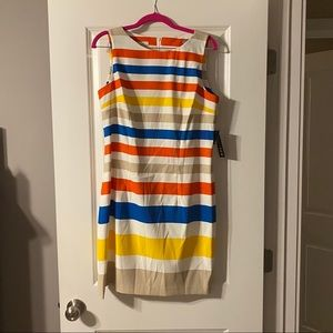NWT Kim Rogers striped shift dress